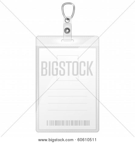 Plastic Badge For Person Identification.