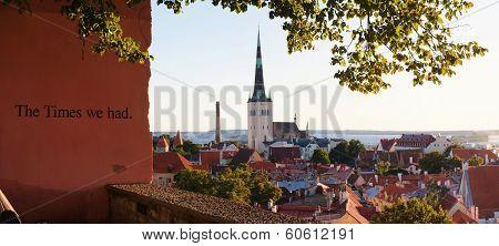 Skyline Of Tallinn, Estonia At Sunrise