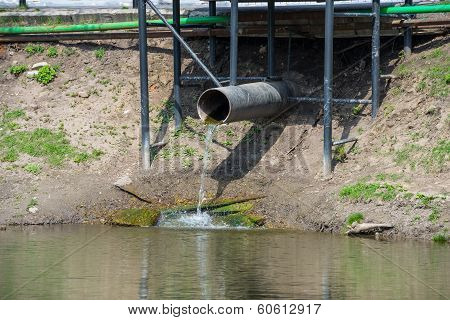 old pipe with to flow water