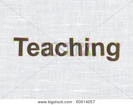 Education concept: Teaching on fabric texture background