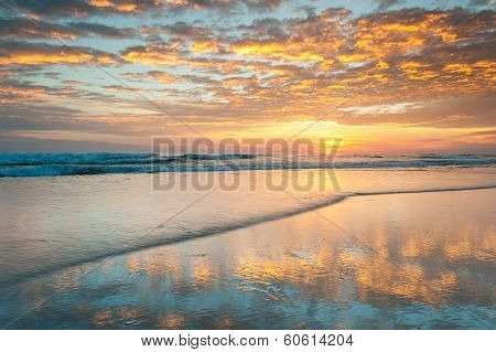Serene Coastal Beach Sunrise North Carolina Outer Banks