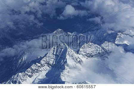 Clouds and Snow Mountain