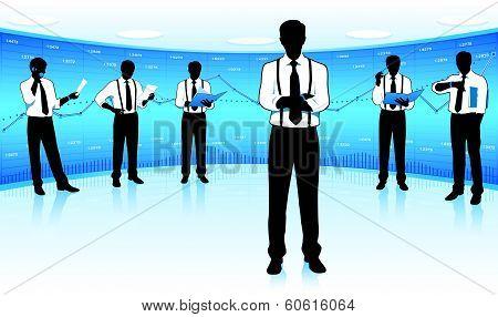 Stock market team leader