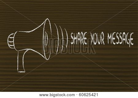 Funny Megaphone Design: Share Your Message