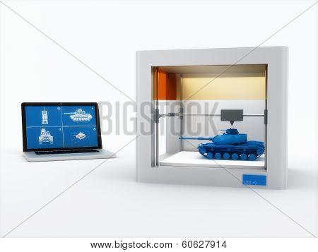 3d printer, printing tank