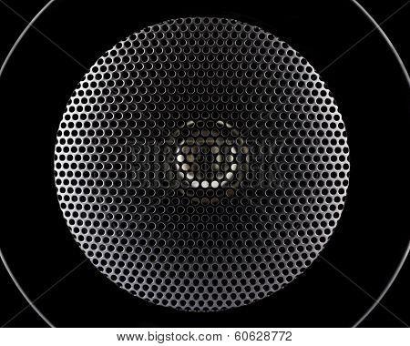 Closeup Of Music Speakers Membrane