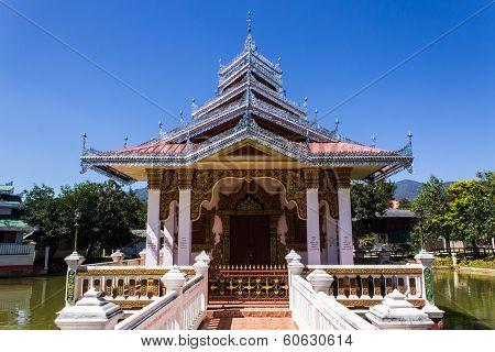 Chapel Shan Style In Wat Nong Kok Kam, Wianghaeng Chiangmai Thailand