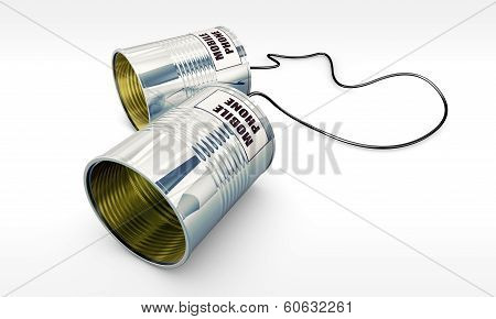 mobile phone made with tin can