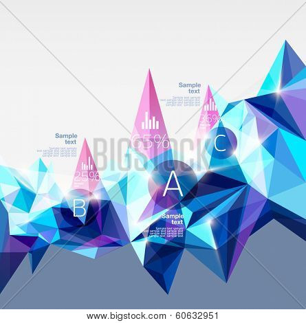 Infographics with abstract background