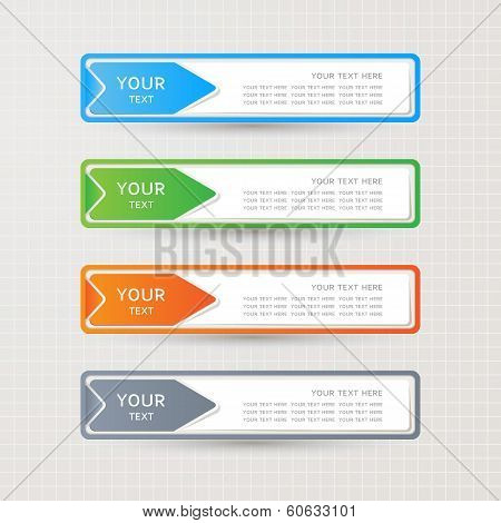 Sticker Label Paper Colorful Set, Vector