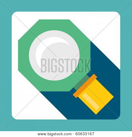 Vector illustration of flat icon glass