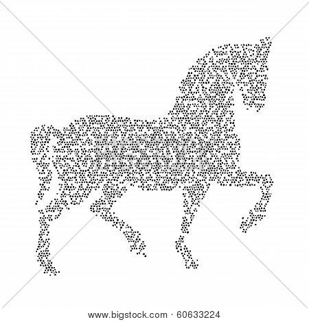 Vector Image Of An Horse Design