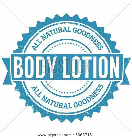 Body Lotion Stamp