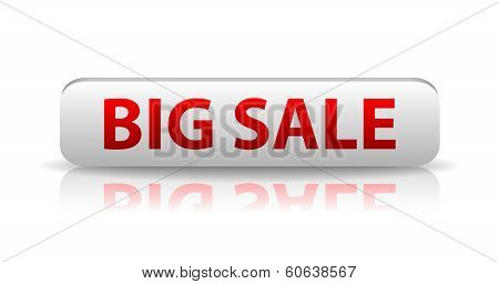 3D White Web Button Big Sale