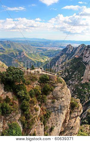 Beautiful Mountain Near Montserrat Monastery In Catalonia, Spain