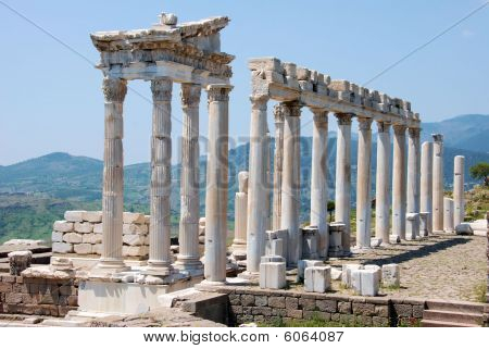 Ruins of Trajan temple in Pergamos