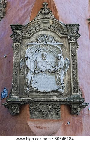 Plaque In Honor Of Francisco Suarez, Granada, Andalusia, Spain