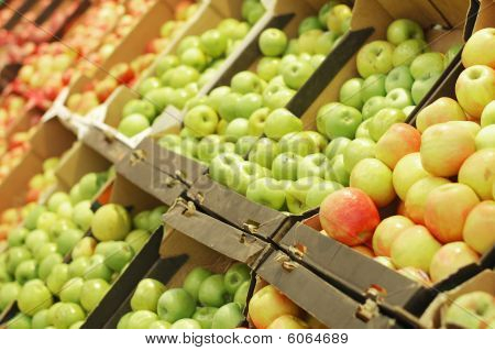 Fruit Section In Supermarket