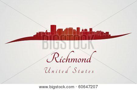 Richmond Skyline In Red