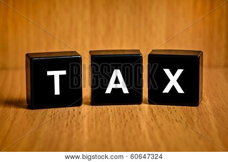 Tax Accounting Text On Block