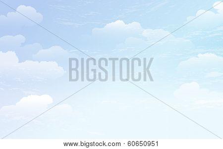 Spreading Blue Sky Background