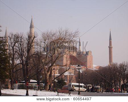Hagia Sofia in a winter day