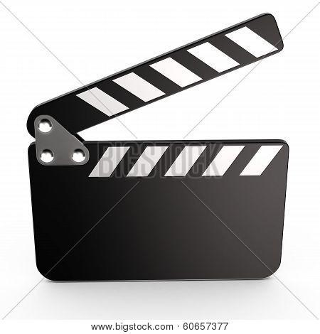 Movie clapper board, 3d
