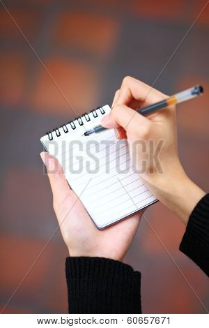 Jot down on notebook