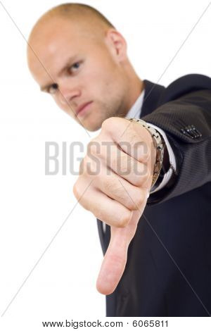 Young Businessman Thumb Down