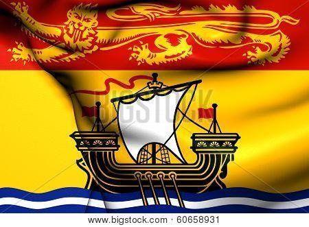 Flag Of New Brunswick, Canada.