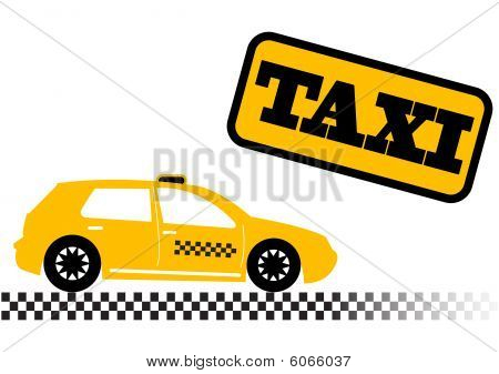 Taxi car illustration