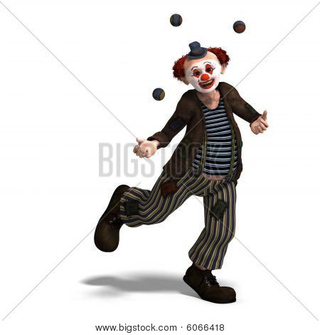 Funny Circus Clown With Lot Of Emotions