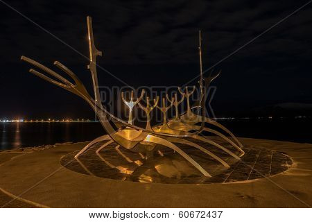 Solfar (sun Voyager) At Night