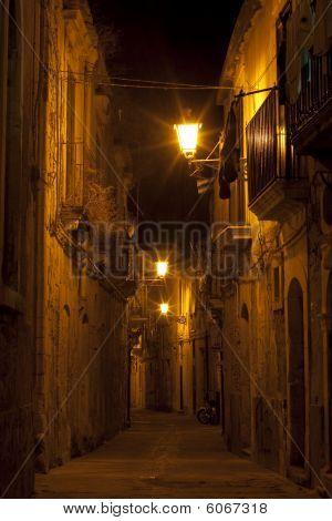Syracuse, Sicily Night Street