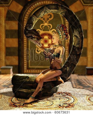The Snake Enchantress 3D Cg