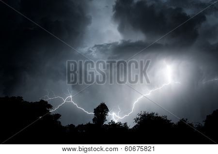 Misty Night Lightning