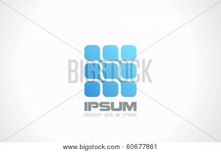 Technology Science Molecule DNA style vector logo design template. Chip icon. Electronics circuit concept. Nano hitech.