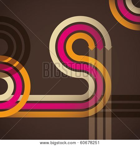 Abstraction with arrows. Vector illustration.