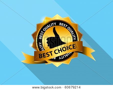 Vector Best Choice Label Icon