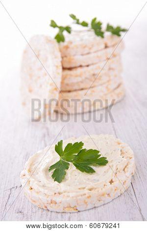 rice cake and cheese