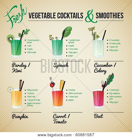 FRESH VEGETABLE COCTAILS & SMOTHIES 	FRESH VEGETABLE COCKTAILS & SMOOTHIES