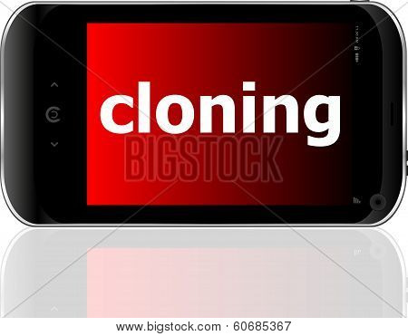 Cloning Word On Smart Mobile Phone, Business Concept