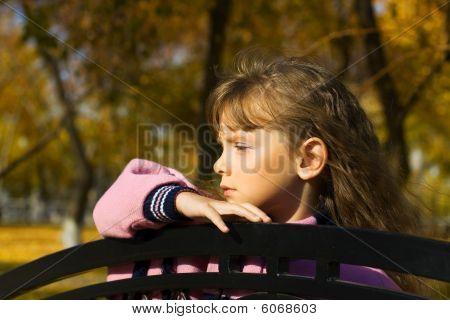 Thoughtful Little Girl.