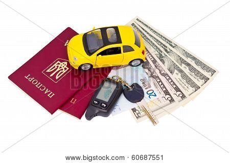 Documents And Belongings To Travel By Car