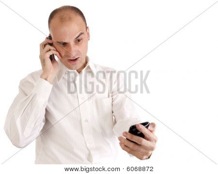 Businessman Talking On His Cell Phone