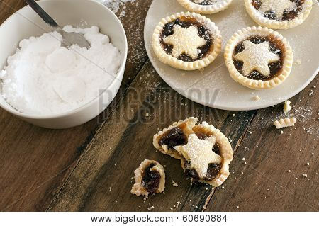 Eating Delicious Fresh Baked Christmas Mince Pies