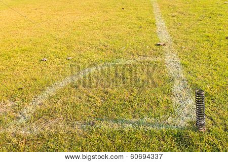 Corner Of Football Or Soccer Field
