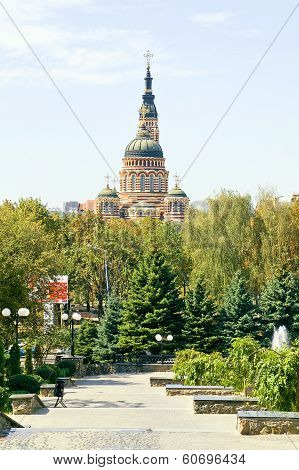 Square In The City Of Kharkiv