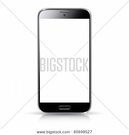 Smartphone realistic vector illustration isolation. Modern style mobile phone.