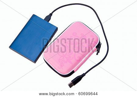 Black External Hard Disk And Case